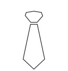 Necktie icon vector