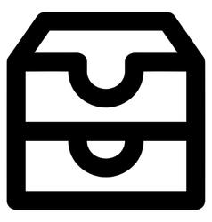 Account Boxes Stroke Icon vector image