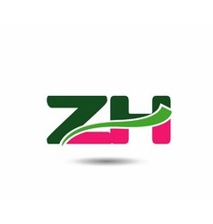 Alphabet z and h letter logo vector