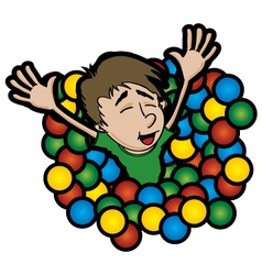 ball pit vector image
