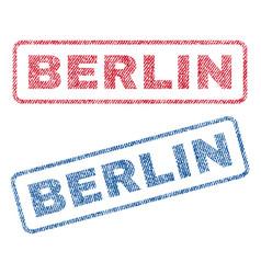 Berlin textile stamps vector