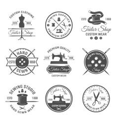Black tailor emblem set vector