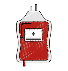 Blood bag donation icon vector
