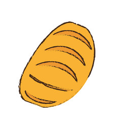 Bread bakery food healthy vector