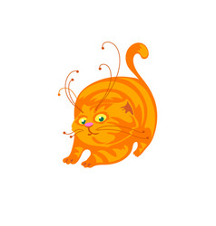 cat cartoon vector image