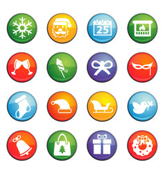 Christmass icon set vector