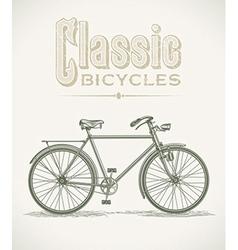 Classic gentlemans bicycle vector image