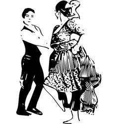 Couple dancing vector
