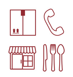Delivery related icons vector