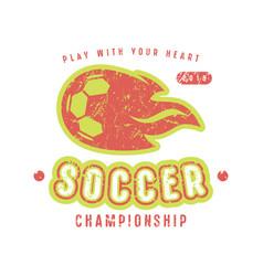 Emblem of soccer championship vector