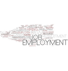 employment word cloud concept vector image vector image