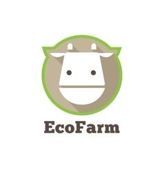 flat modern minimalistic cow logo Farm vector image vector image