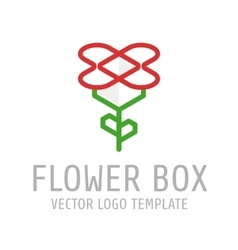Flower box logo vector image vector image