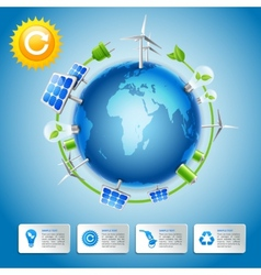 Green energy and power concept vector image