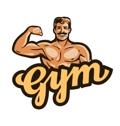 gym logo sport fitness or bodybuilding vector image