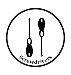 Icon of screwdriver vector image vector image