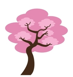 japanese tree isolated icon design vector image