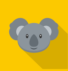 koala icon flat style vector image vector image