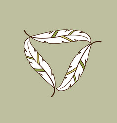 leaf frame for logo vector image vector image