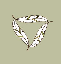 Leaf frame for logo vector