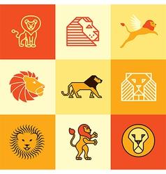 leo logo icons vector image vector image