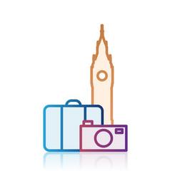 London tourism destination icon vector