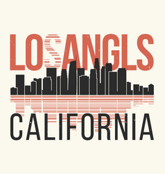 los angeles graphic t-shirt design tee print vector image vector image