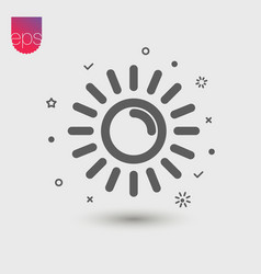 Music simple icon emblem isolated on grey vector