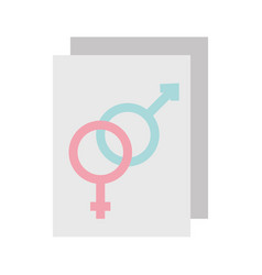 paper with male and female symbol vector image