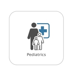 Pediatrics and Medical Services Icon Flat Design vector image vector image