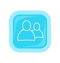 People icon in flat style design vector