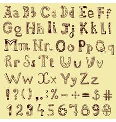 sketching alphabet vector image vector image