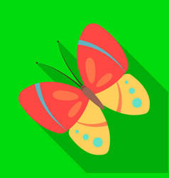 spring butterfly easter single icon in flat style vector image vector image