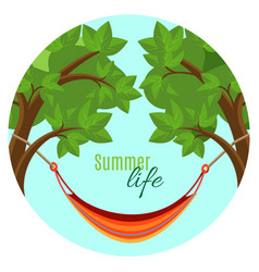summer life with hammock vector image
