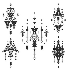 Tribal elements ethnic collection vector image