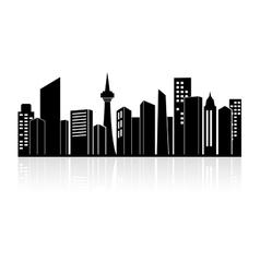 Urban landscape or city skyline vector