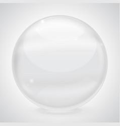 white glass ball vector image vector image