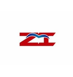 ZI company linked letter logo vector image vector image
