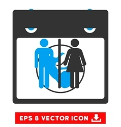 Toilet persons calendar page eps icon vector