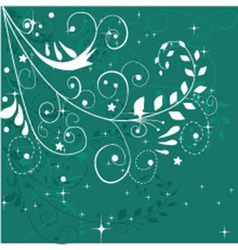 Abstract christmas floral design vector