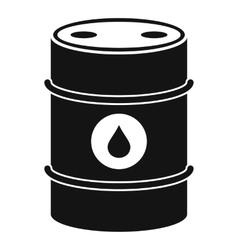 Metal oil barrel icon simple style vector image