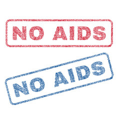 No aids textile stamps vector