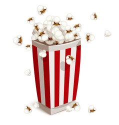 Paper cup full of popcorn vector