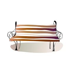 A bench vector image