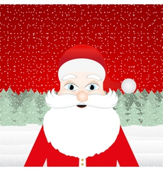 Santa claus in a christmas forest vector