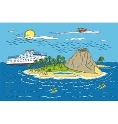 Summer tropical paradise vector