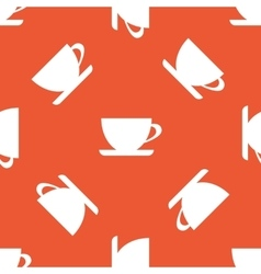 Orange cup pattern vector