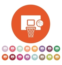 The basketball icon game symbol flat vector