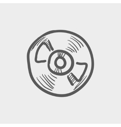 Reel tape deck player recorder sketch icon vector