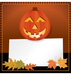 Halloween jack o lantern with copyspace vector